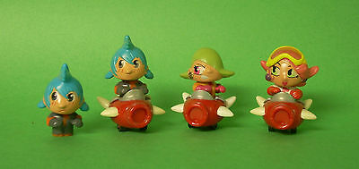 Kinder Surprise ~ 4 Anime style Figures &  3 Spaceships