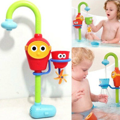 Baby Kids Gift Cartoon Flow Fill Faucet Spout Bath Toy Learning Toy Set