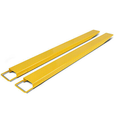 "2Pcs Forklift Extensions Fit 5.5"" Width 60 72 84 96 Thickness Lifts Retaining"