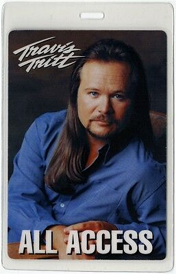 Travis Tritt authentic concert tour Laminated Backstage Pass ALL ACCESS country