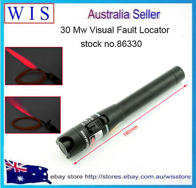 30mW Red Visual Fault Locator Fiber Optic Cable Tester Pen Type Test Tool-86330