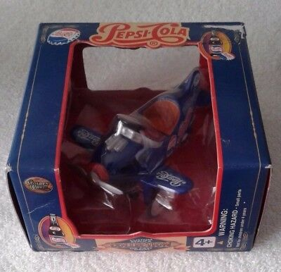 Pepsi Cola Custom Replica Collection Die Cast Metal Pedal Plane Golden Wheels #2