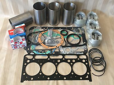 Kubota V2203 DI Engine Rebuild Kit Overhaul Kit with liners