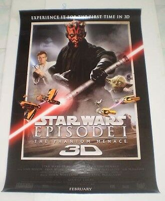 Star Wars Movie Episode Poster 1 27x40 Original Sided Phantom Menace Orig Inches