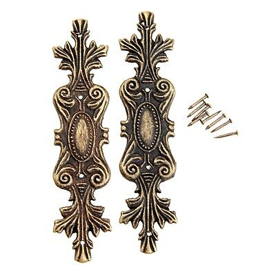 2Pcs Antique Decorative Corner Bracket for Furniture Wooden Box Feet Furniture