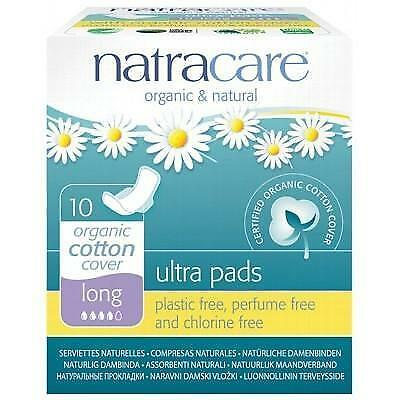 NATRACARE Organic Ultra Pads Long with Wings - 10 pcs