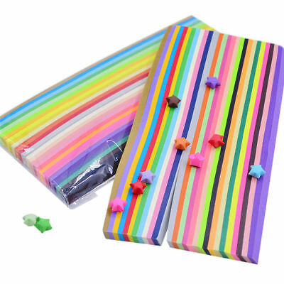 540pcs Funny Origami Lucky Star Paper Strips Folding Paper Ribbons Colors Gifts