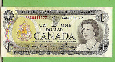 #d321. Canada  Qeii One  Dollar  Banknote   Banknote  Aag888817