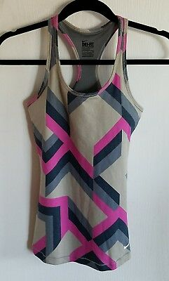 Nike Dri Fit Women's Athletic Sports Bra Tank Top Small Multi Color Racer Back