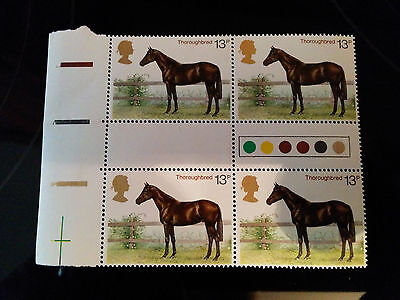 GB mint unmounted block of 4 Thoroughbred (Issued 1978)