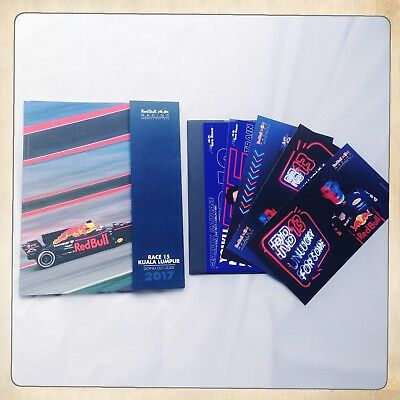 Red Bull/Toro Rosso Formula 1 F1 2017 Malaysian Programme & Postcards Verstappen
