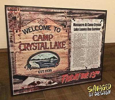 FRIDAY THE 13TH WALL DISPLAY Print 12 X 16 Inches JASON VOORHEES