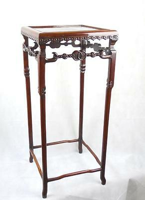 Chinese Huanghuali Incense Stand Qing Dynasty 19th C