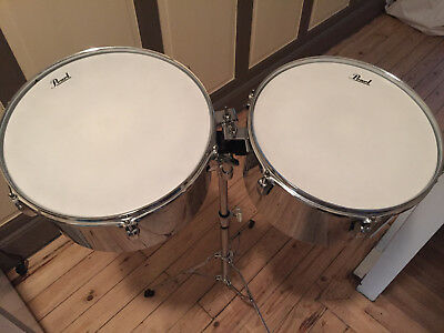 """pearl primero timbals set 13"""" + 14"""" for latin music percussions"""