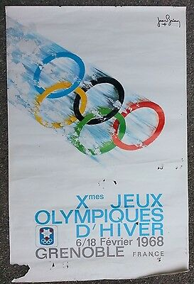 Jeux Olympiques Grenoble 68/olympics - 4 affiches anciennes/ski original posters
