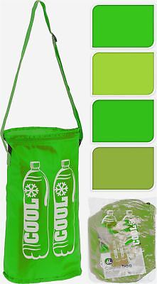 6 Liter Green Insulated 2Bottle Cooler Bag Ice Box Summer Camping Picnic Coolbag