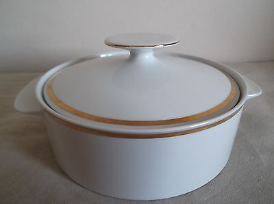 Thomas ~ Wide Gold  Band ~  Covered Vegetable Dish