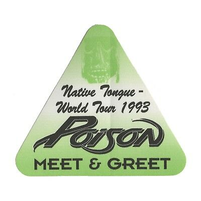 Poison authentic 1993 Native Tongue tour Satin Backstage Pass Meet & Greet