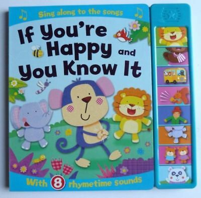 "Baby Nursery Rhymes Sound Book ""If You're Happy and You Know it"" Ages 0 months+"