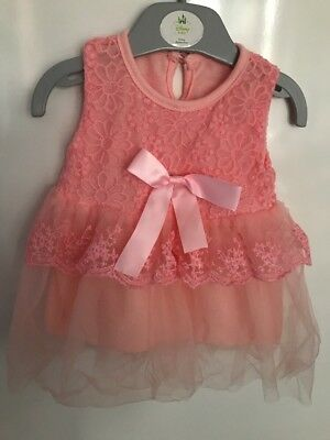 Robe Princesse Rose Taille 3 Mois Neuf