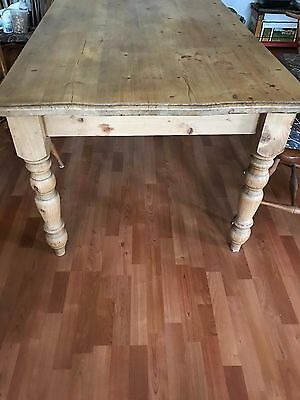 Antique English Pine Farm Dining Table
