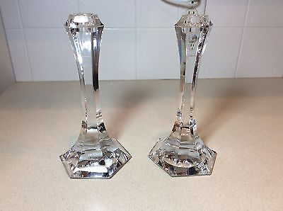 Pair of Candle Holders Crystal St. Louis France