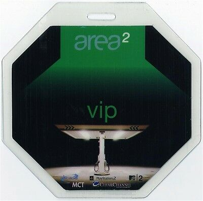 Area: Two authentic 2002 Laminated Backstage Pass Moby David Bowie Busta Rhymes
