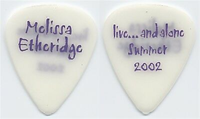Melissa Etheridge authentic concert 2002 Live and Alone stage tour Guitar Pick