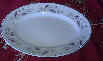 Rare Royal Osborne Meadow Grass Staffordshire White Mist Platter