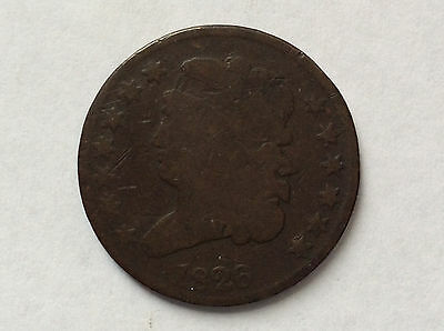 1826 Classic Head Half Cent Great Type U. S. Coin A3136