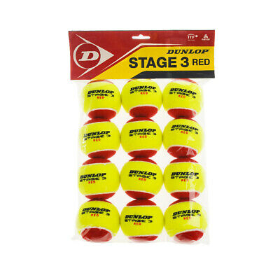 Palle Tennis Dunlop Stage 3 - Red 12Polybag