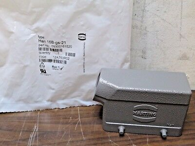 New Harting 09300161520 Han 16B-gs-21 Side Entry Hood Free Shipping