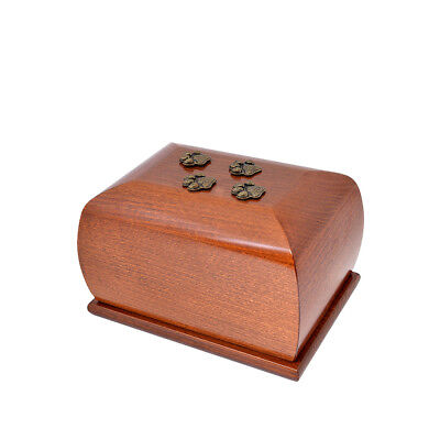 Wooden Pet cremation urns for cat or dog ashes Unique Memorial Urn for Pets ZD11