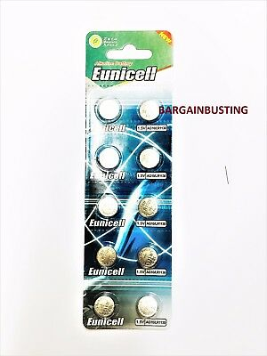 10 X Eunicell AG10, LR1130 189 LR54 390 389 1.5v Button/Coin Battery