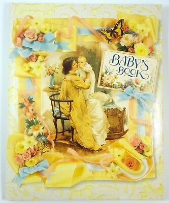 Baby's Book Baby Keepsake Memory Album Cynthia Hart Antique Victorian Theme