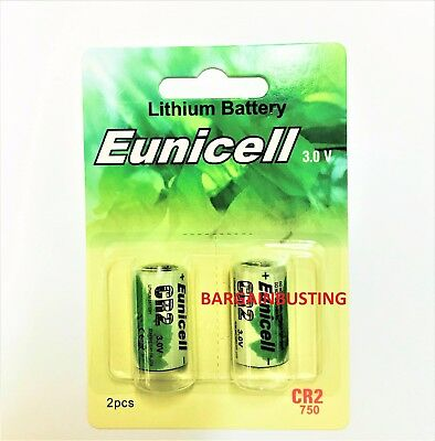 2 x EUNICELL CR2 3 VOLT LITHIUM  BATTERIES