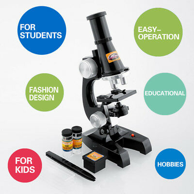Microscope Kit Set Science Biological Lab Education Gift For Childrens Kids