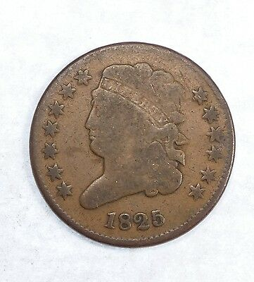1825 Classic Head Half Cent GOOD 1/2-Cent