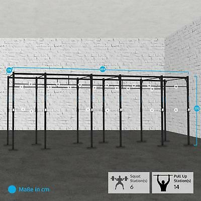 Capital Sports Cross Training Fintess Rack Squat Station Pullup J-Cups 694X179Cm