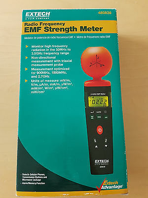 EXTECH 480836 RF EMF Strength Meter Radiation measurements from 50MHz to 3.5GHz