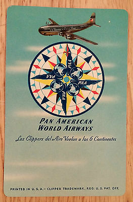 1951-1952 Pan American World Airways Calendar Made For Cubana Airlines