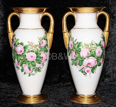 2 Antique Royal Copenhagen  Pre 1923  Fireside Vases  Rare