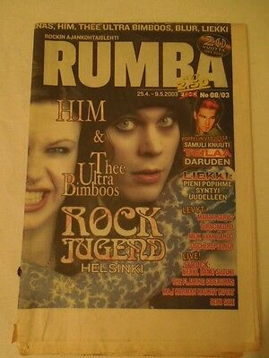 Finnish Rumba Magazine 8/2003 HIM Ville Valo on cover
