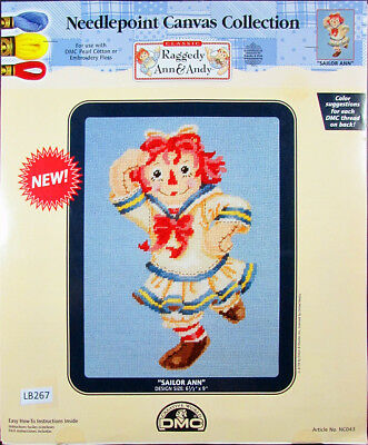 2x Printed Canvas 18ct DMC Raggedy Ann & Andy -LB267