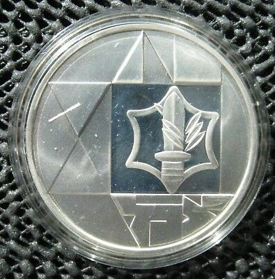1983 Israel 850 SILVER PROOF VALOUR COIN 35TH INDEPENDENCE 2 SHEQ.+BOX+ COA