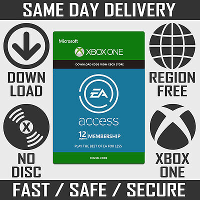 EA Access 12 Month Subscription Code Key / Membership for Xbox One
