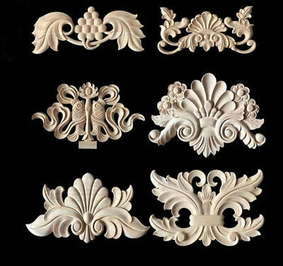 1PC Classic Wood Hollow Carved Applique Cupboard Cabinet Furniture Home Decor