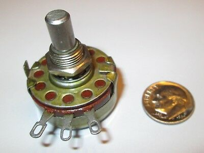 "Allen-Bradley 250 Ohm  Linear Taper  2 Watt Potentiometer 3/8""l Shaft  Nos"