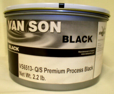 Process Black Offset Ink Oil Base Van Son Vs6513 Vacuum Packed Can 2.2 Lbs.