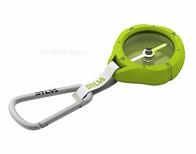 Silva Metro Compass with carabiner - Green
